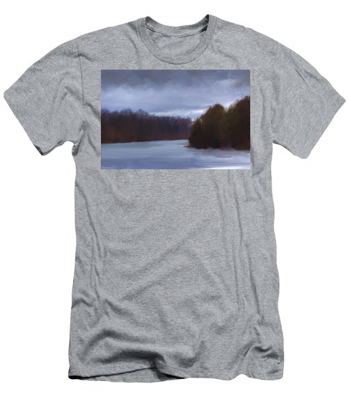 River Bend In Winter Men's T-Shirt (Athletic Fit)