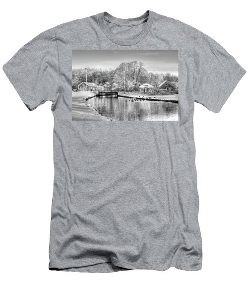 River In The Snow Men's T-Shirt (Athletic Fit)