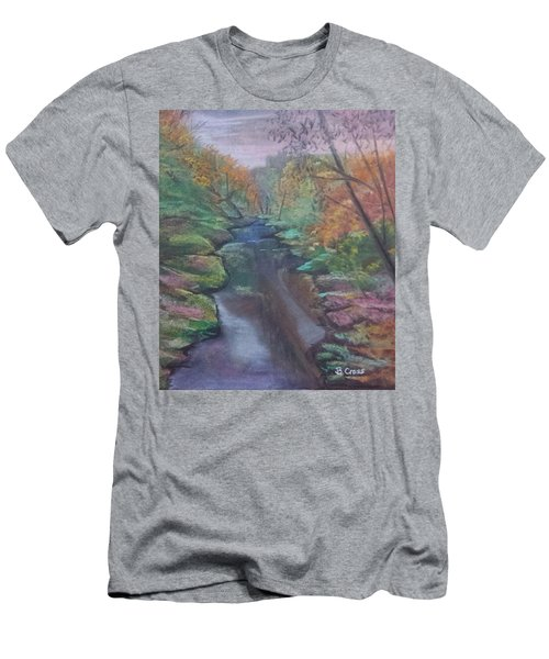 River In The Fall Men's T-Shirt (Athletic Fit)