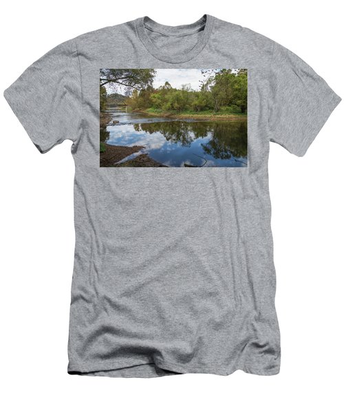 Men's T-Shirt (Athletic Fit) featuring the photograph River Reflections by John M Bailey