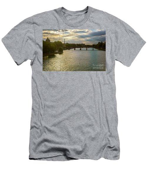 River Seine At Dusk Men's T-Shirt (Athletic Fit)