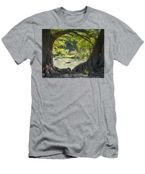 River Through Trees Men's T-Shirt (Athletic Fit)