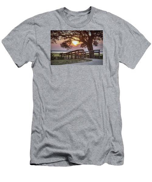River Walk Men's T-Shirt (Slim Fit) by Phil Mancuso
