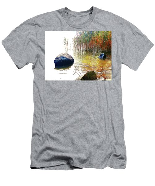 Men's T-Shirt (Athletic Fit) featuring the photograph Riverside Melody by Roger Bester