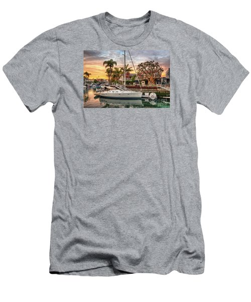 Rivo Alto Canal And Naples Canals Men's T-Shirt (Athletic Fit)