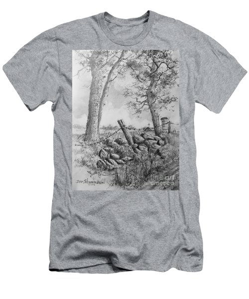 Men's T-Shirt (Slim Fit) featuring the drawing Road Home by Jim Hubbard