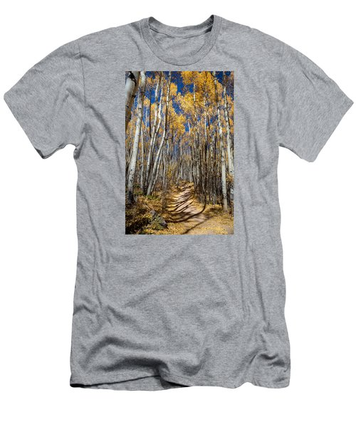 Road Through Aspens Men's T-Shirt (Athletic Fit)