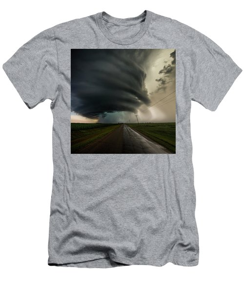 Men's T-Shirt (Athletic Fit) featuring the photograph Road To Mesocyclone by Aaron J Groen
