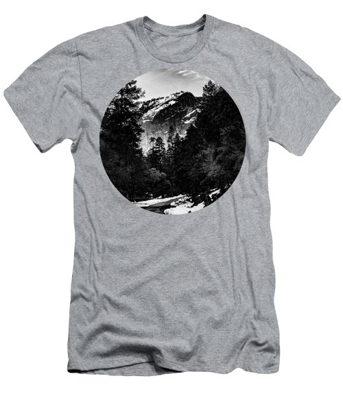 Road To Wonder, Black And White Men's T-Shirt (Athletic Fit)