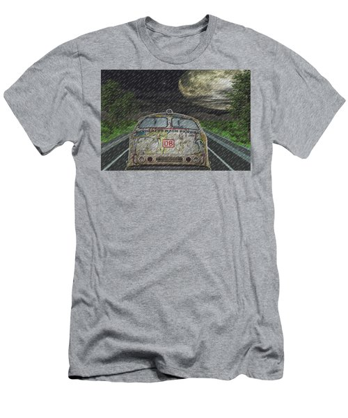 Men's T-Shirt (Slim Fit) featuring the digital art Road Trip In The Rain by Angela Hobbs