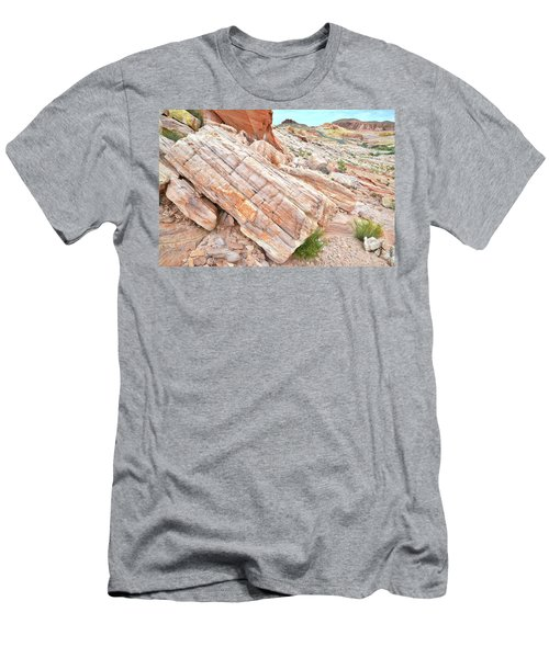 Men's T-Shirt (Slim Fit) featuring the photograph Roadside Sandstone In Valley Of Fire by Ray Mathis