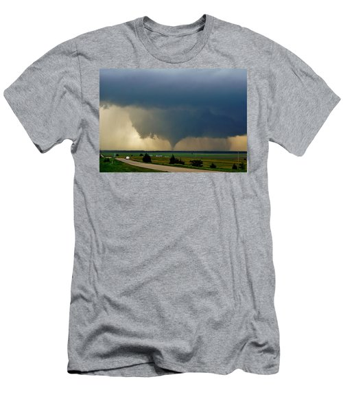 Men's T-Shirt (Athletic Fit) featuring the photograph Roadside Twister by Ed Sweeney
