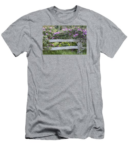 Men's T-Shirt (Slim Fit) featuring the photograph Roan Mountain Azaleas by Tyson and Kathy Smith