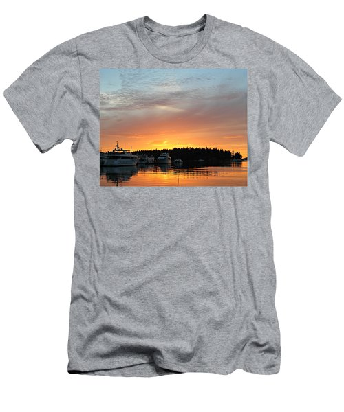 Roche Harbor Sunset Men's T-Shirt (Athletic Fit)
