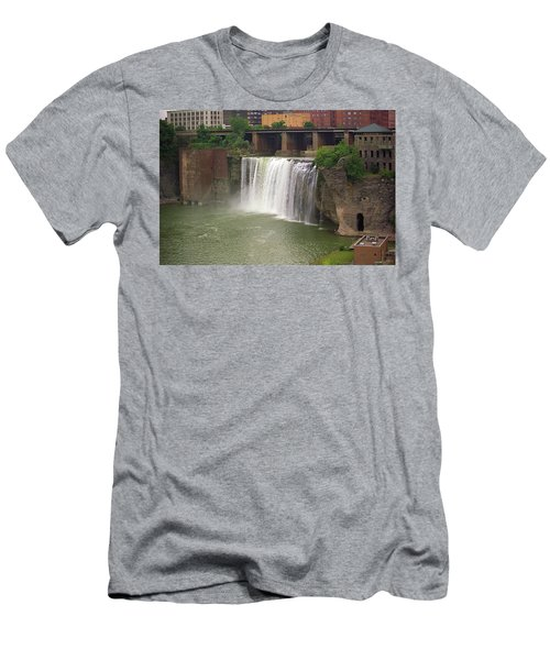 Men's T-Shirt (Slim Fit) featuring the photograph Rochester, New York - High Falls by Frank Romeo