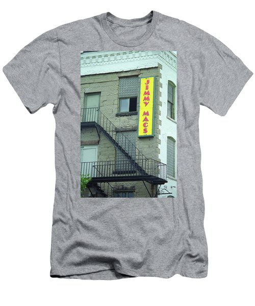 Men's T-Shirt (Slim Fit) featuring the photograph Rochester, New York - Jimmy Mac's Bar 2 by Frank Romeo