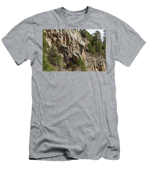 Men's T-Shirt (Slim Fit) featuring the photograph Rock Climbers Paradise by James BO Insogna