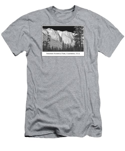 Men's T-Shirt (Slim Fit) featuring the photograph Rock Formation Yosemite National Park California by A Gurmankin