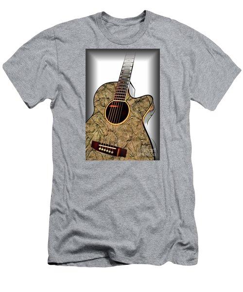 Rock Guitar 1 Men's T-Shirt (Slim Fit) by Walt Foegelle