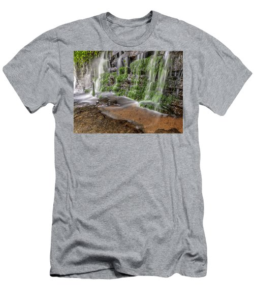 Rock Wall Waterfall Men's T-Shirt (Athletic Fit)