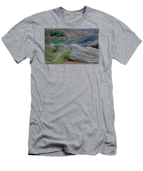 Rocks At Central Park Men's T-Shirt (Athletic Fit)