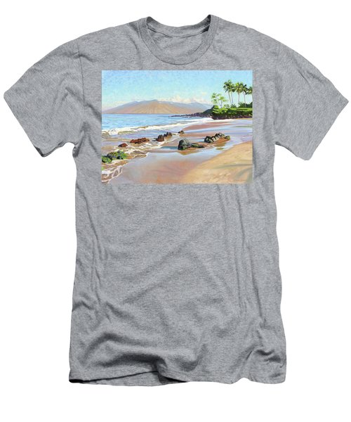 Rocks On Polo Beach Men's T-Shirt (Athletic Fit)
