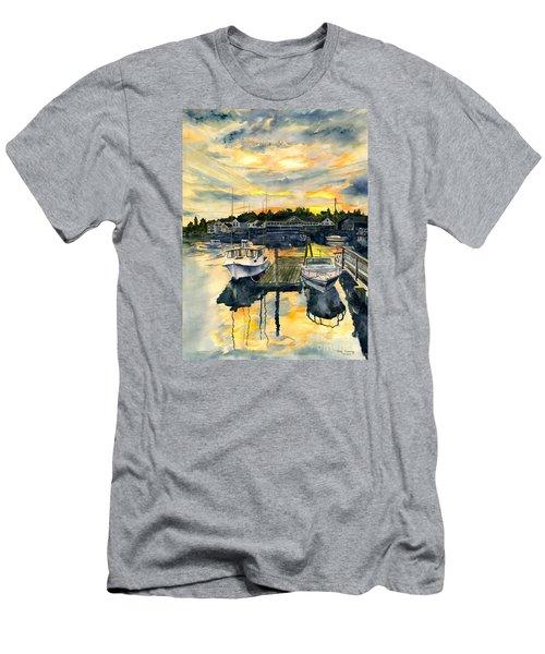 Rocktide Sunset Men's T-Shirt (Slim Fit) by Melly Terpening