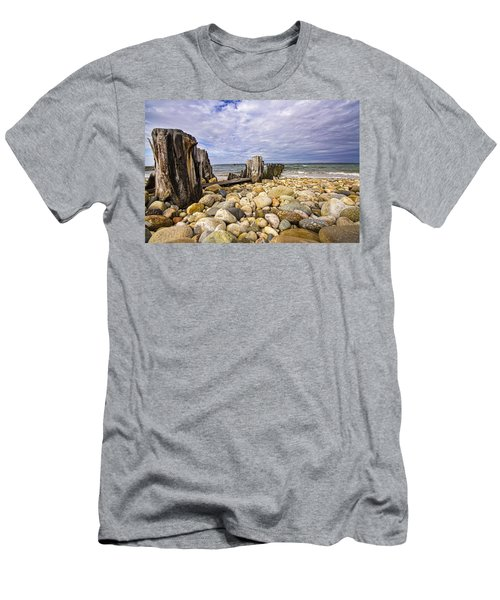 Rocky Beach In Springs Ny Men's T-Shirt (Athletic Fit)