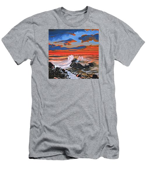 Rocky Cove Men's T-Shirt (Slim Fit) by Donna Blossom
