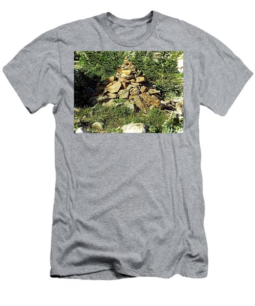Rocky Mountain Cairn Men's T-Shirt (Slim Fit) by Joseph Hendrix