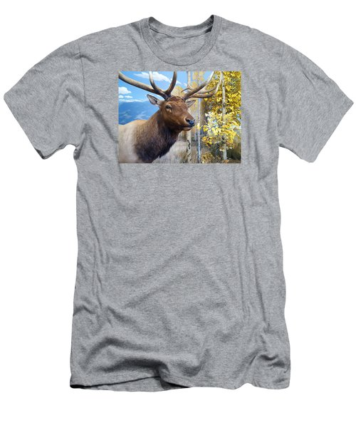 Men's T-Shirt (Slim Fit) featuring the photograph Rocky Mountain Elk by Karon Melillo DeVega
