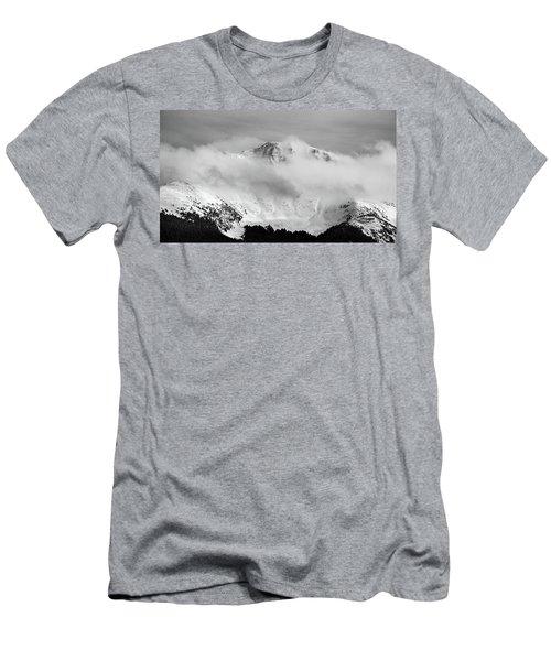 Rocky Mountain Snowy Peak Men's T-Shirt (Athletic Fit)