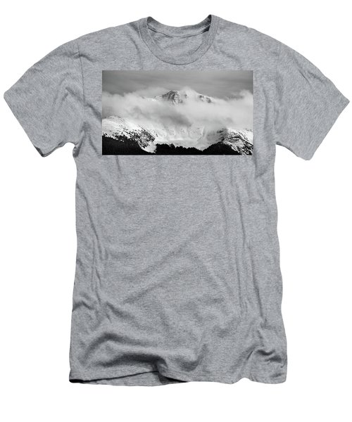 Rocky Mountain Snowy Peak Men's T-Shirt (Athletic Fit)