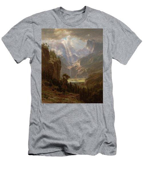Rocky Mountains, Lander's Peak Men's T-Shirt (Athletic Fit)