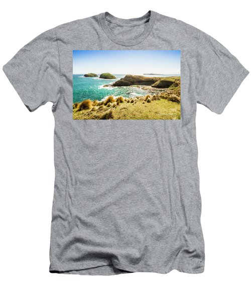 Rocky Ocean Capes Men's T-Shirt (Athletic Fit)
