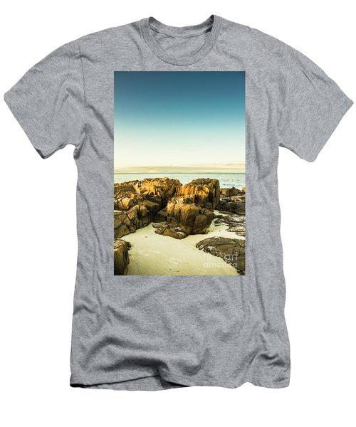 Rocky Oceanscape Men's T-Shirt (Athletic Fit)