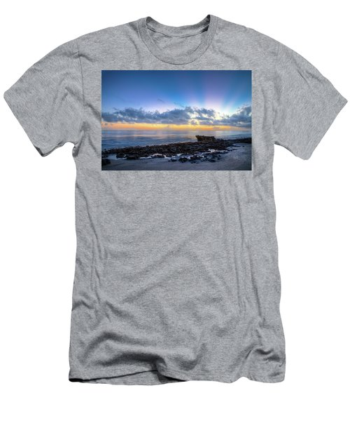 Men's T-Shirt (Slim Fit) featuring the photograph Rocky Reef At Low Tide by Debra and Dave Vanderlaan