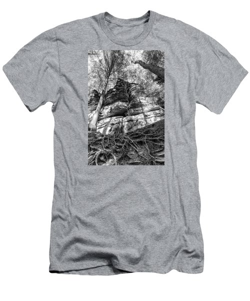 Men's T-Shirt (Slim Fit) featuring the photograph Rocky Roots by Alan Raasch