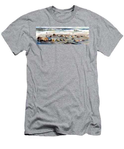 Rocky Seashore Men's T-Shirt (Athletic Fit)