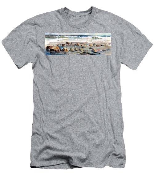 Rocky Seashore Men's T-Shirt (Athletic Fit)