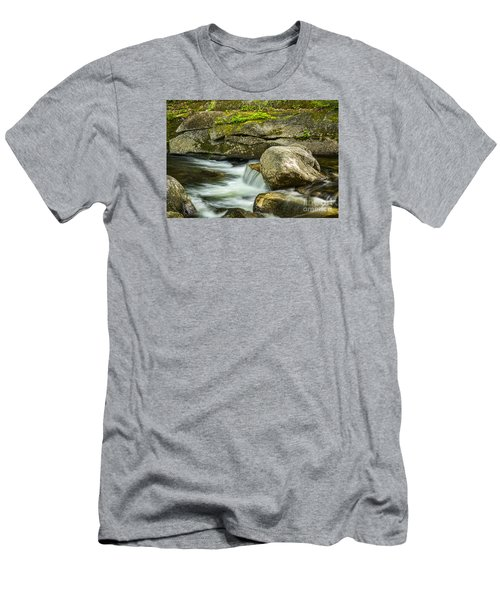 Men's T-Shirt (Slim Fit) featuring the photograph Rocky Stream by Alana Ranney