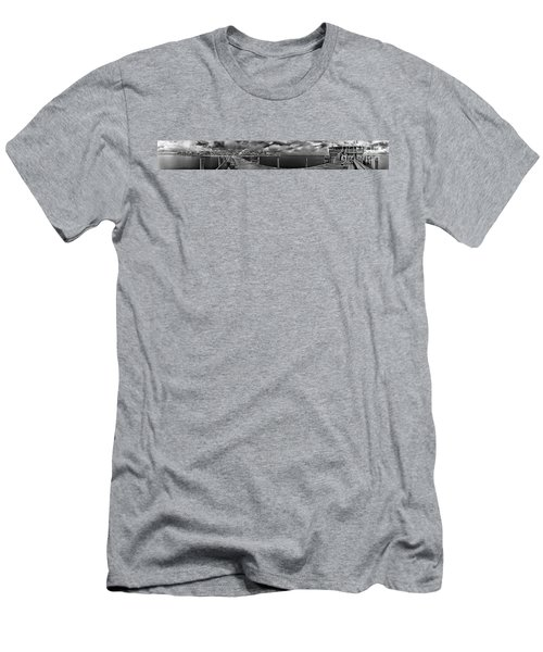 Rod And Reel Pier In Infrared Men's T-Shirt (Athletic Fit)