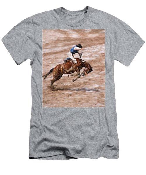 Rodeo Bronc Rider Men's T-Shirt (Slim Fit) by John Freidenberg