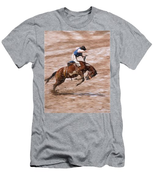 Rodeo Bronc Rider Men's T-Shirt (Athletic Fit)