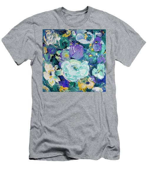 Romantic Rose Garden Men's T-Shirt (Athletic Fit)
