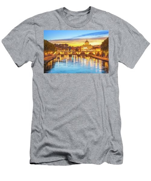 Rome At Twilight Men's T-Shirt (Athletic Fit)