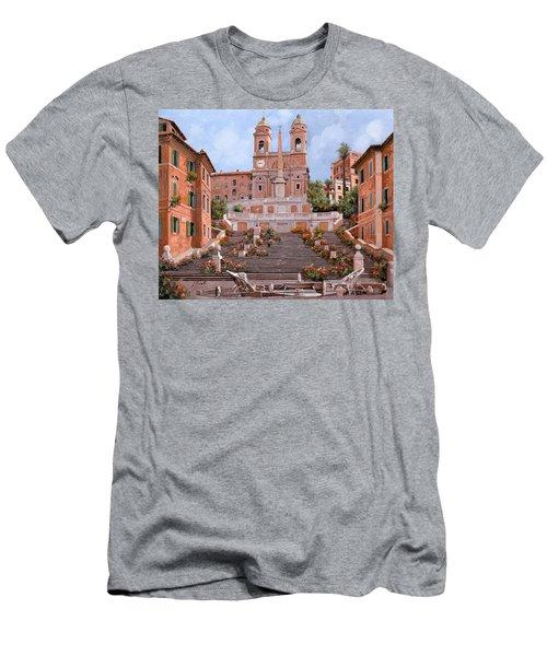 Rome-piazza Di Spagna Men's T-Shirt (Athletic Fit)