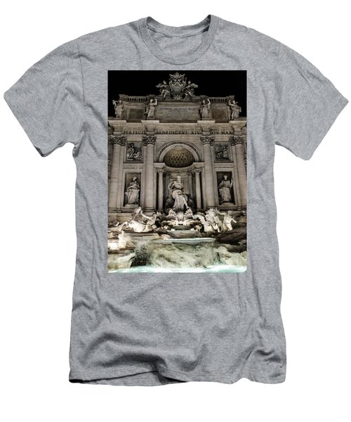 Rome - The Trevi Fountain At Night 3 Men's T-Shirt (Athletic Fit)