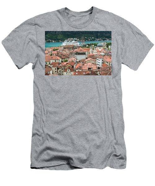 Rooftops Of Kotor  Men's T-Shirt (Athletic Fit)