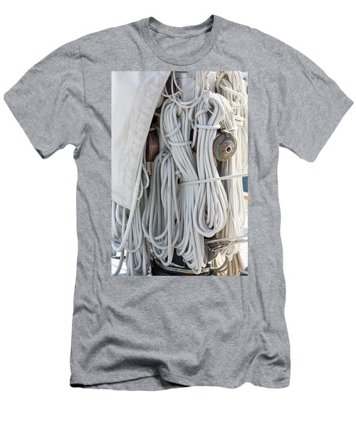 Ropes Of A Sailboat Men's T-Shirt (Athletic Fit)